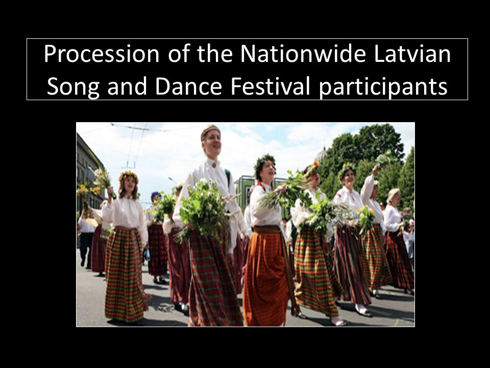 Procession of the Nationwide Latvian Song and Dance Festival participants
