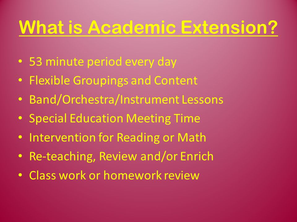 What is Academic Extension