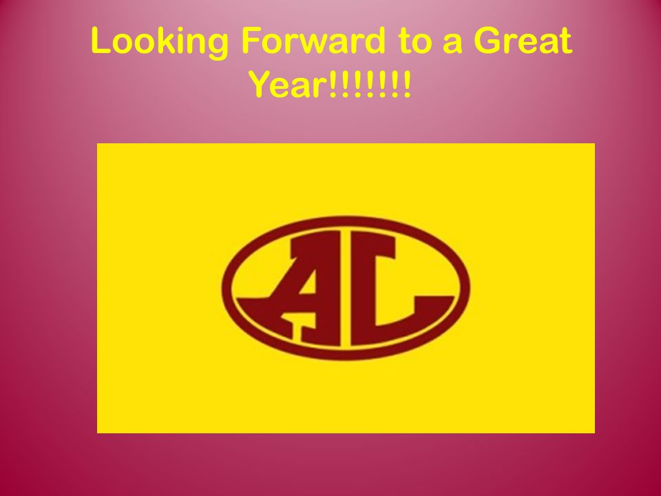 Looking Forward to a Great Year!!!!!!!