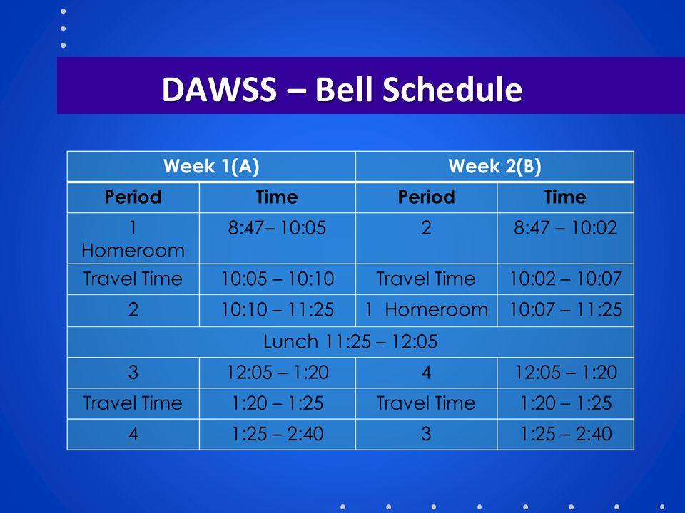 DAWSS – Bell Schedule