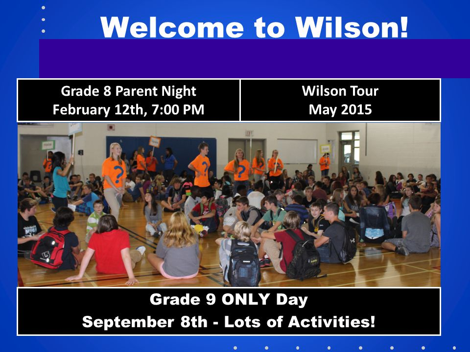 September 8th - Lots of Activities!