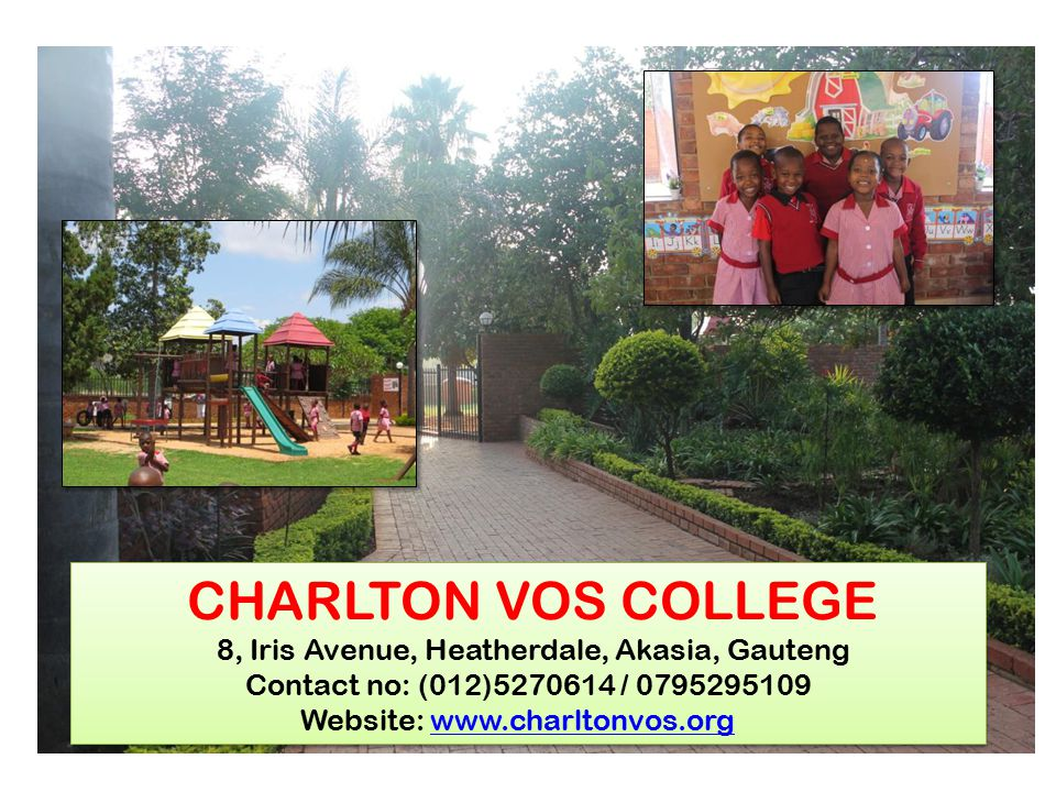 CHARLTON VOS COLLEGE 8, Iris Avenue, Heatherdale, Akasia, Gauteng