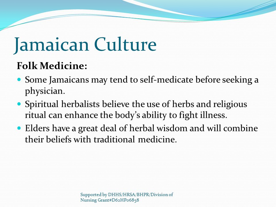 Jamaican Culture Folk Medicine: