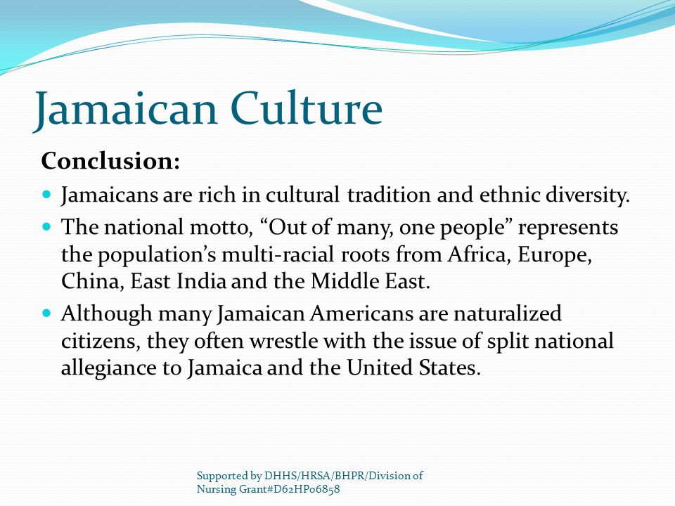 Jamaican Culture Conclusion: