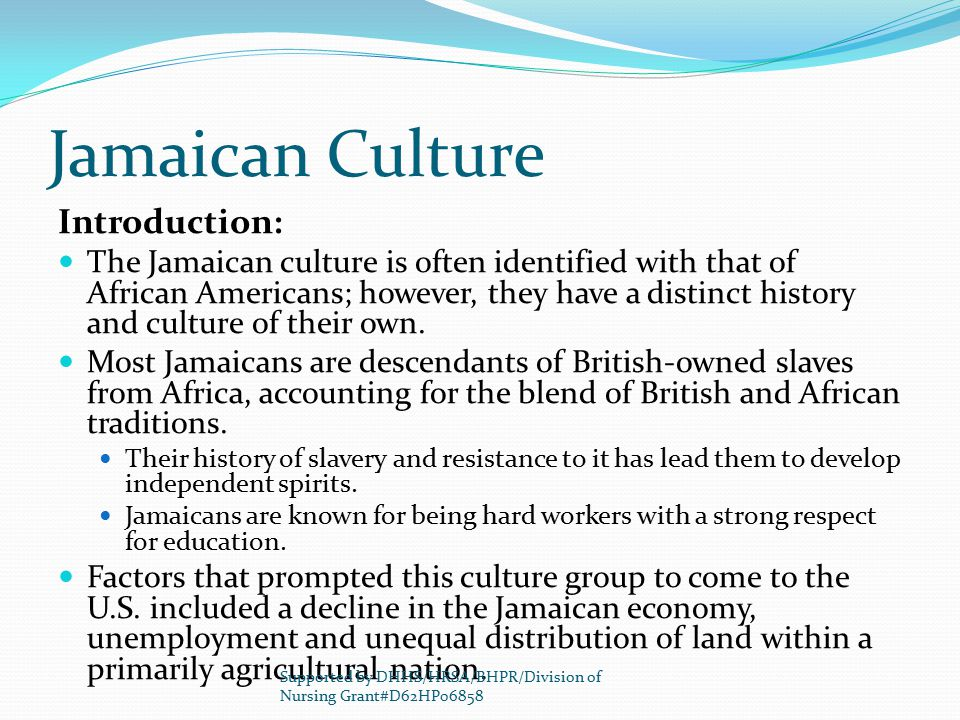 Jamaican Culture Introduction: