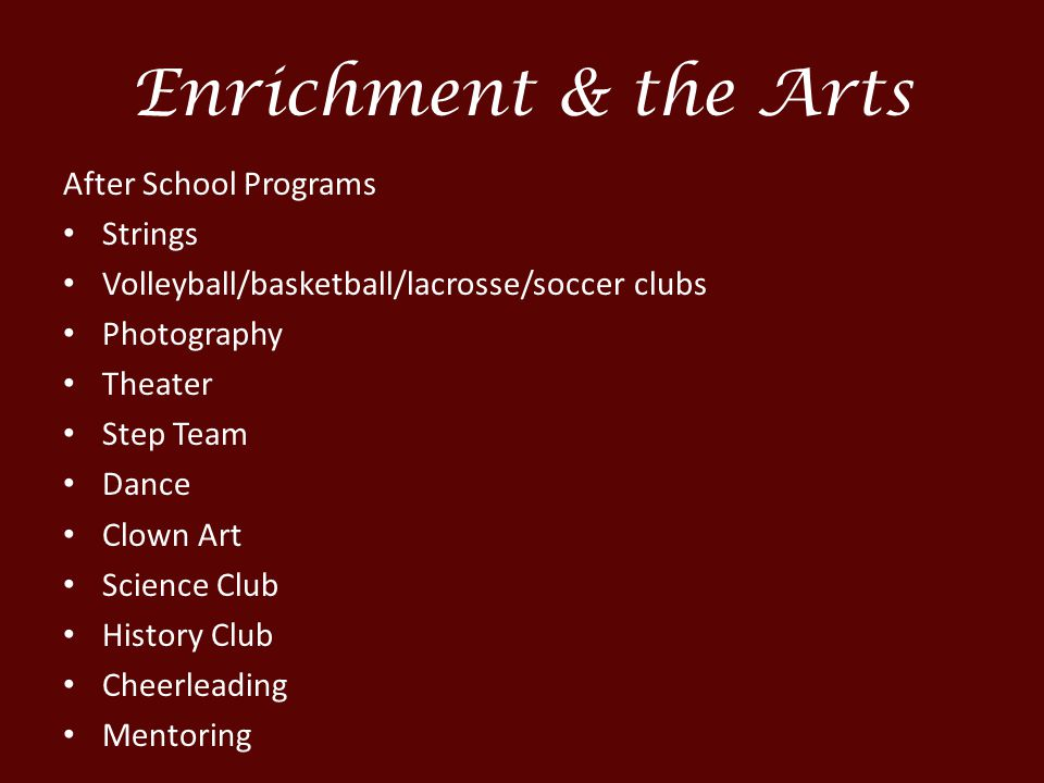 Enrichment & the Arts After School Programs Strings