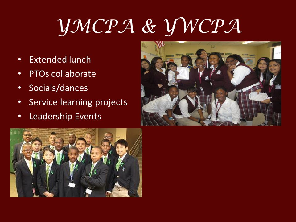 YMCPA & YWCPA Extended lunch PTOs collaborate Socials/dances