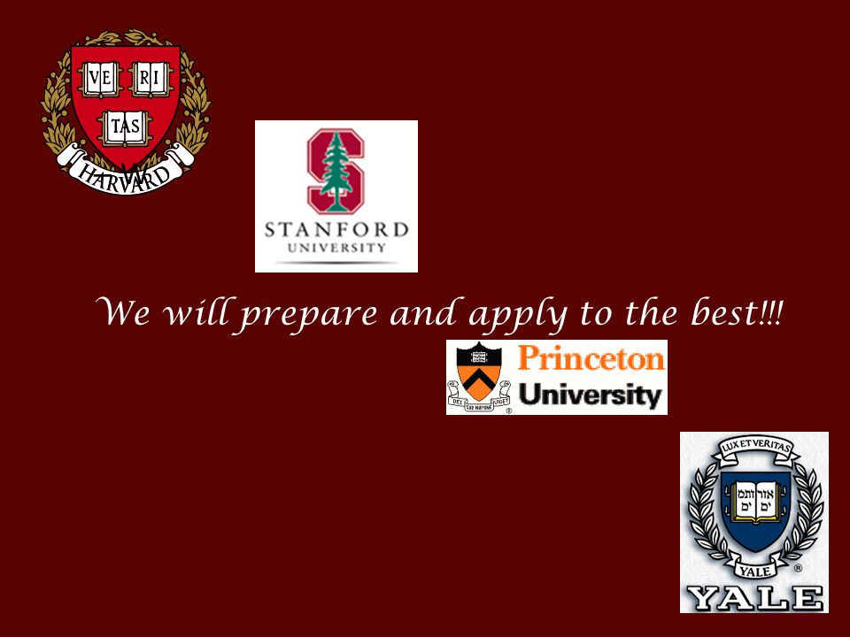 W We will prepare and apply to the best!!!