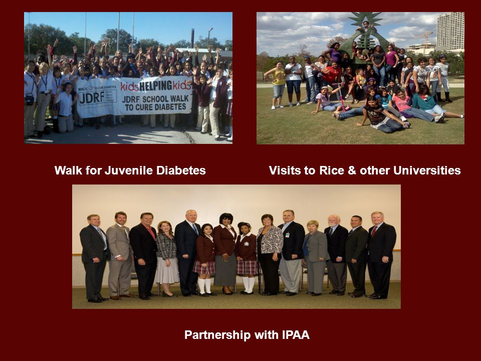 Walk for Juvenile Diabetes Visits to Rice & other Universities