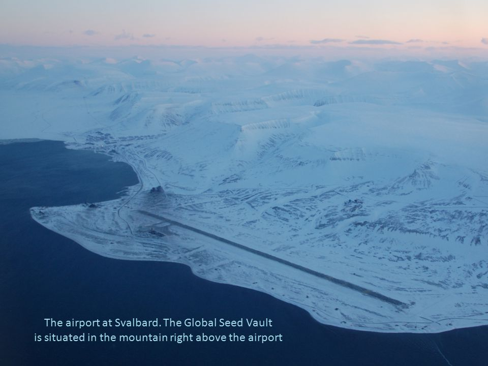 The airport at Svalbard. The Global Seed Vault