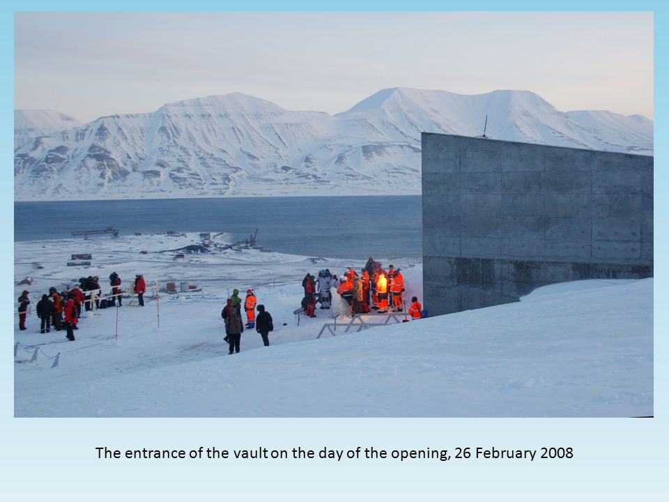 The entrance of the vault on the day of the opening, 26 February 2008