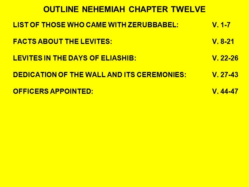 OUTLINE NEHEMIAH CHAPTER TWELVE