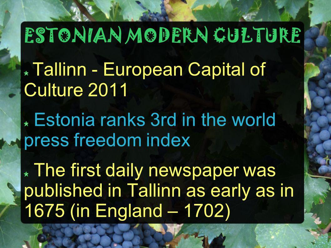 ESTONIAN MODERN CULTURE