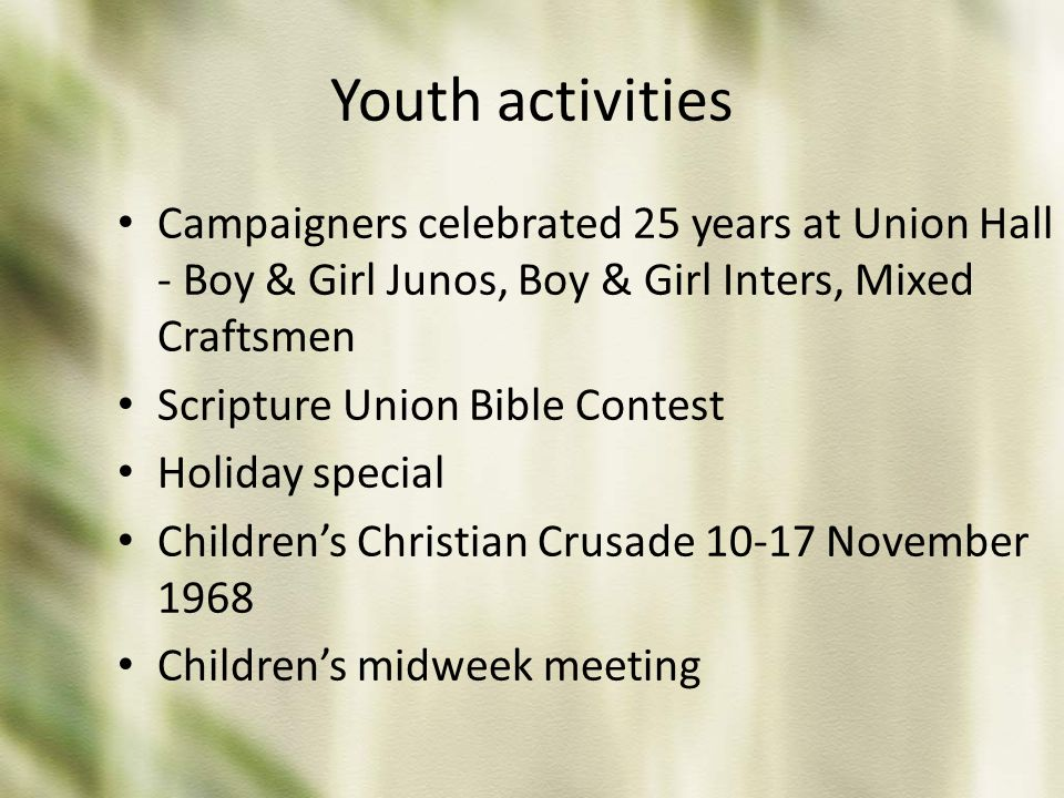 Youth activities Campaigners celebrated 25 years at Union Hall - Boy & Girl Junos, Boy & Girl Inters, Mixed Craftsmen.
