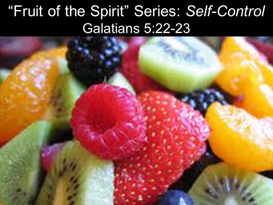 Fruit of the Spirit Series: Self-Control