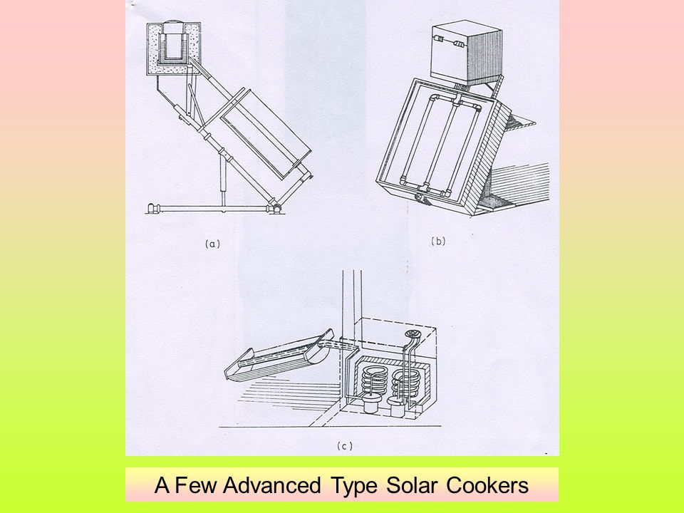 A Few Advanced Type Solar Cookers
