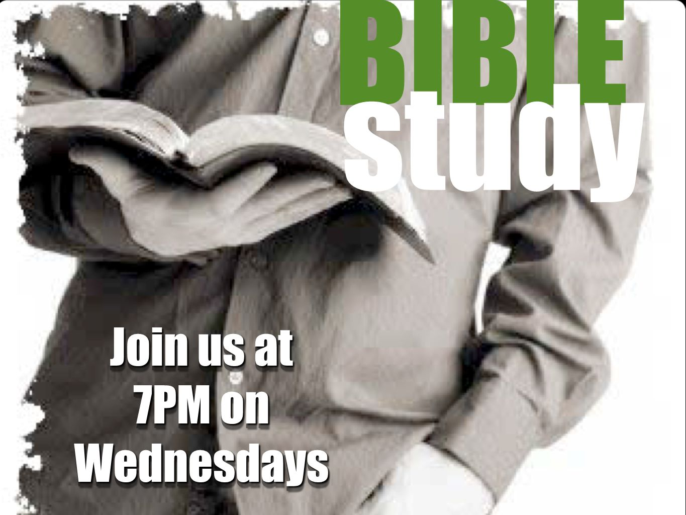 Join us at 7PM on Wednesdays