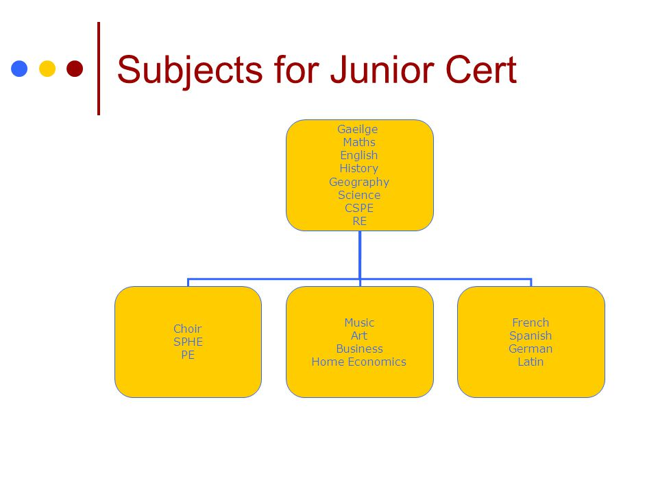 Subjects for Junior Cert