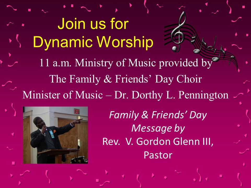 Join us for Dynamic Worship