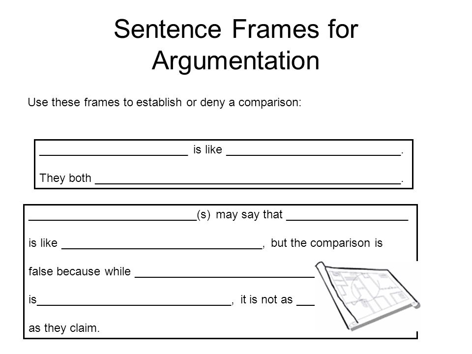 Sentence Frames for Argumentation