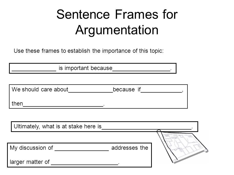 argument essay writing frame