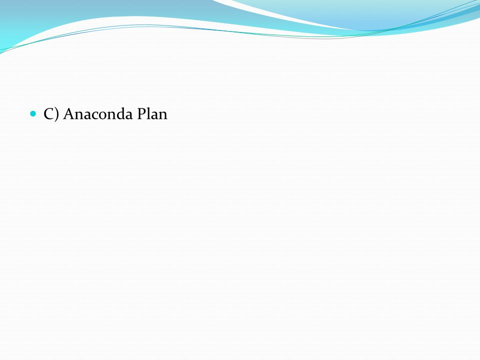 C) Anaconda Plan