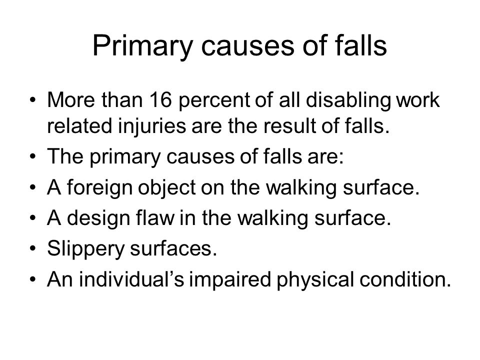 Primary causes of falls
