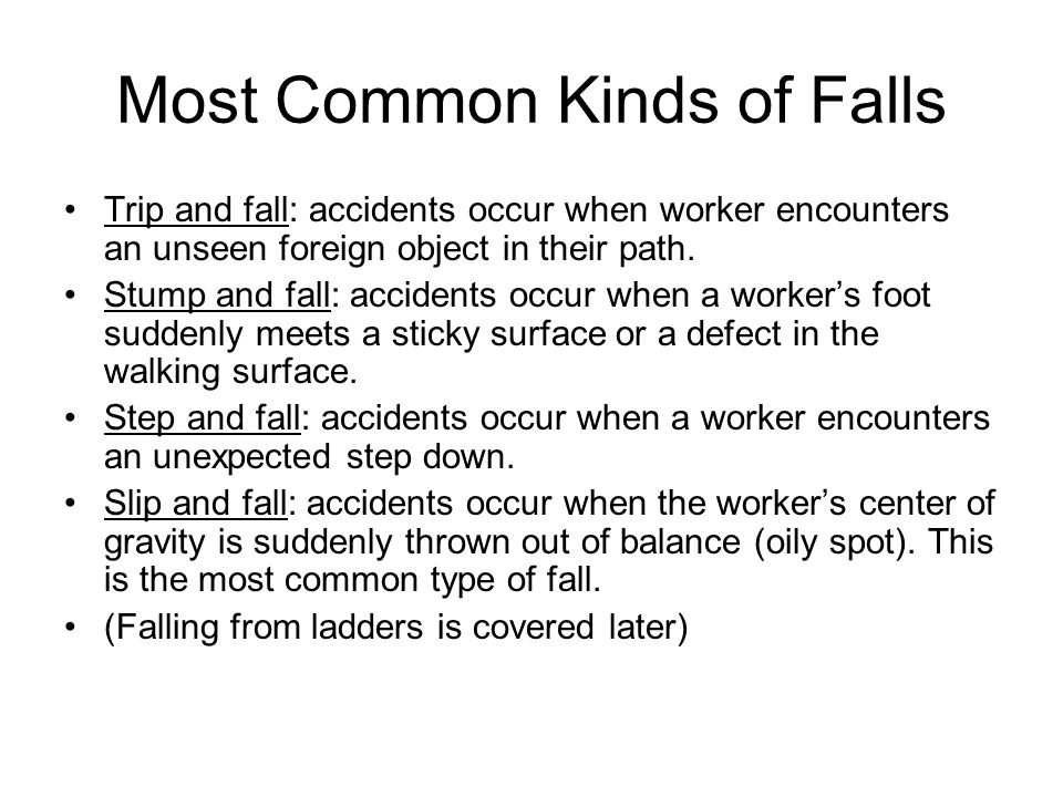 Most Common Kinds of Falls
