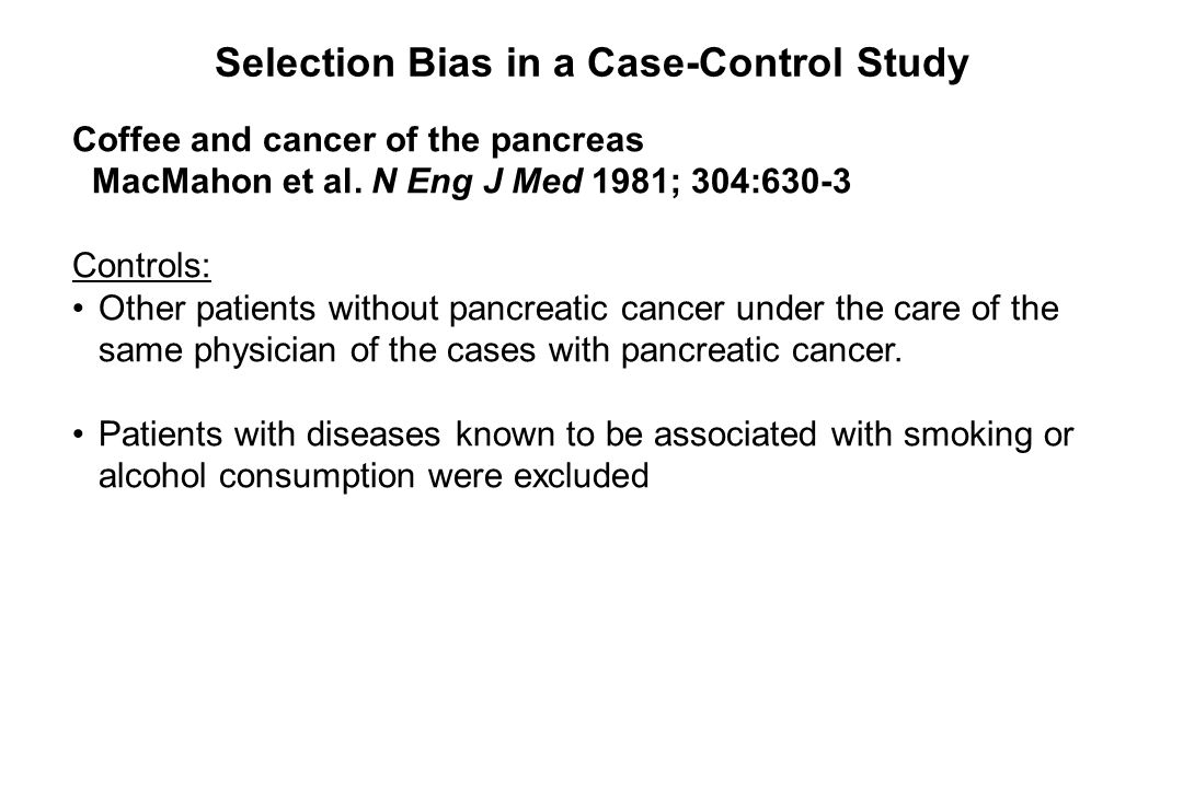 Selection Bias in a Case-Control Study