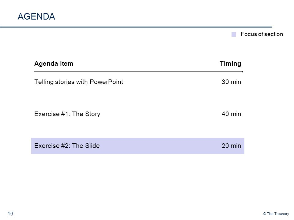 AGENDA Agenda Item Timing Telling stories with PowerPoint 30 min