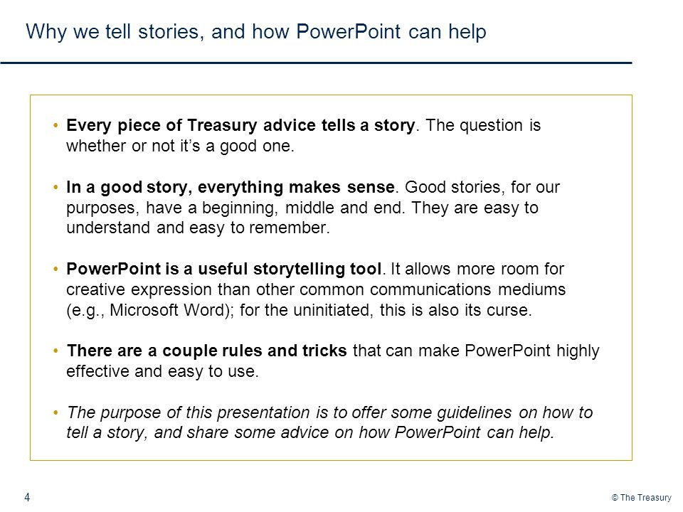 Why we tell stories, and how PowerPoint can help