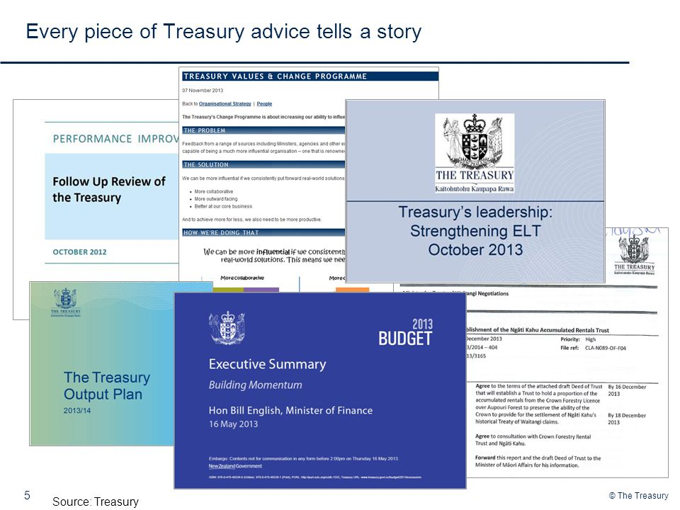 Every piece of Treasury advice tells a story