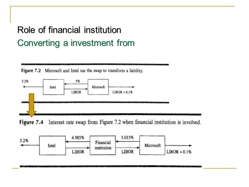 Role of financial institution
