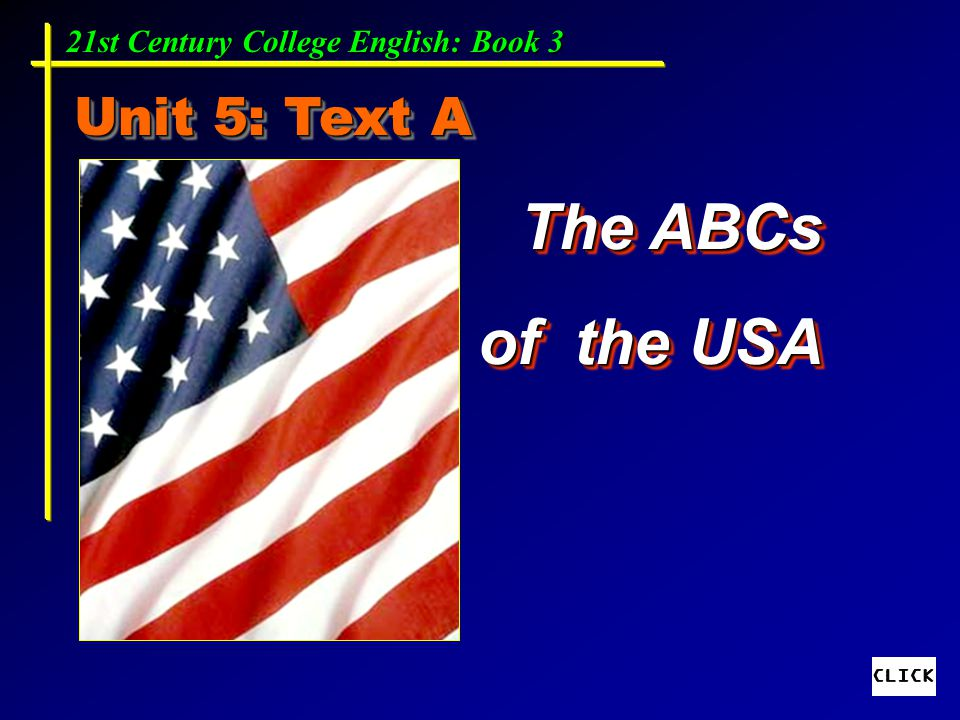 The ABCs of the USA Unit 5: Text A