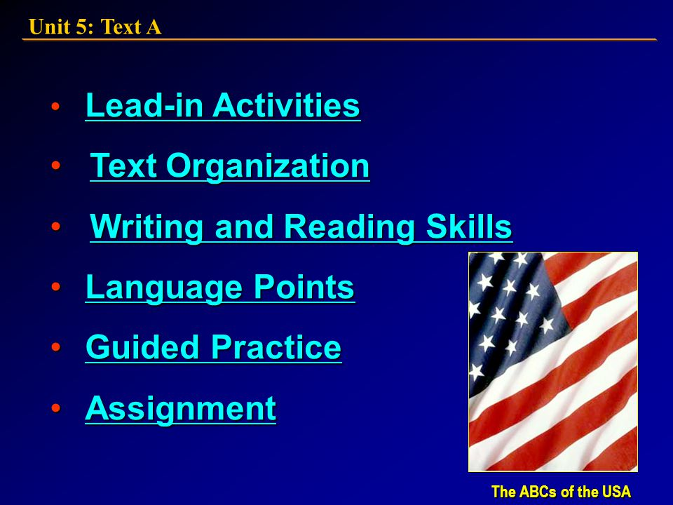 Writing and Reading Skills Language Points Guided Practice Assignment