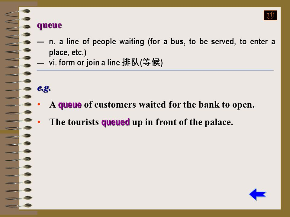 A queue of customers waited for the bank to open.