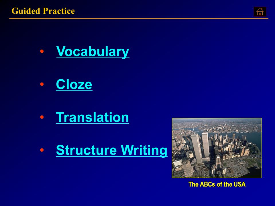 Vocabulary Cloze Translation Structure Writing Guided Practice