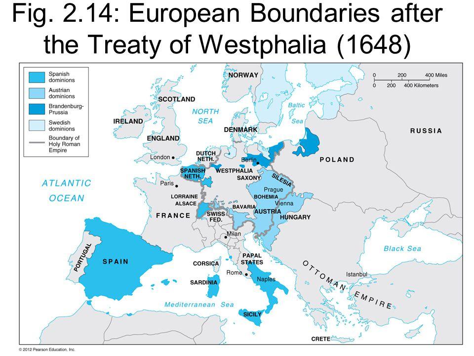 Fig. 2.14: European Boundaries after the Treaty of Westphalia (1648)