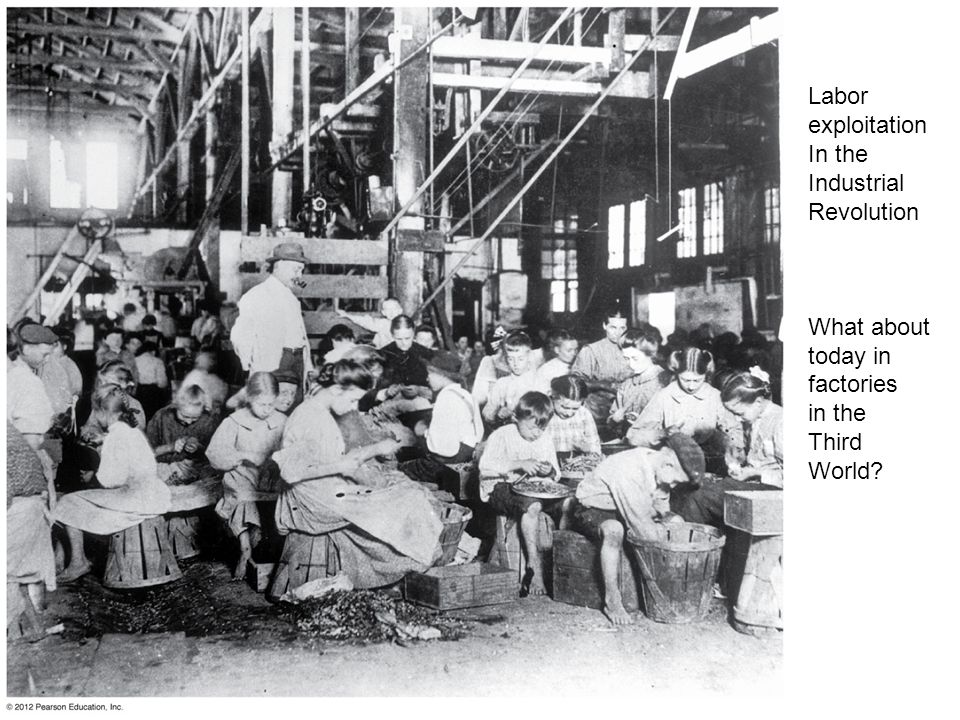 Labor exploitation In the Industrial Revolution What about today in
