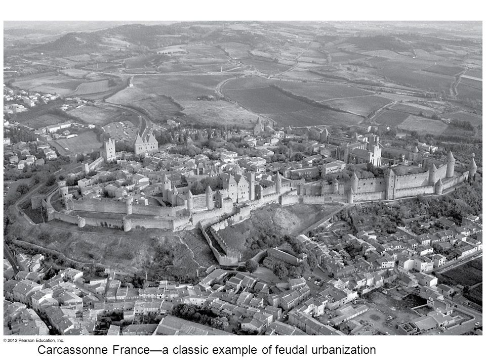 Carcassonne France—a classic example of feudal urbanization