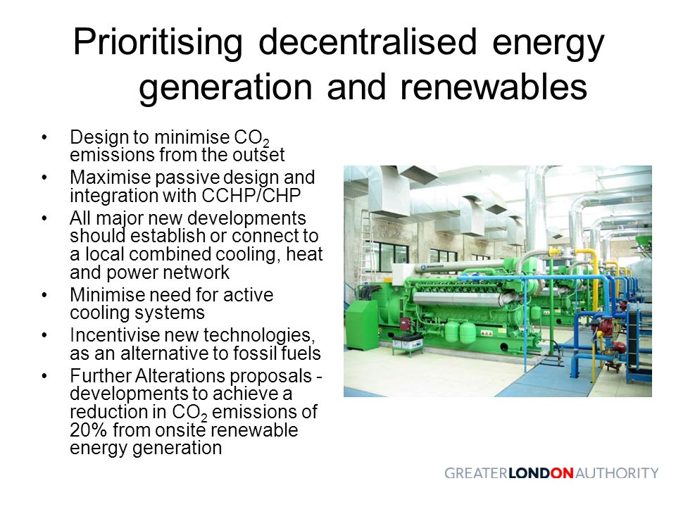 Prioritising decentralised energy generation and renewables
