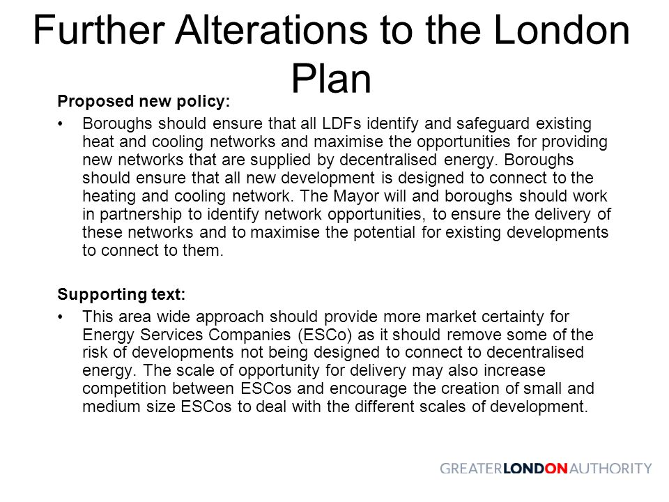 Further Alterations to the London Plan