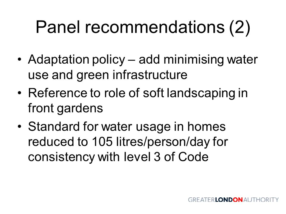 Panel recommendations (2)