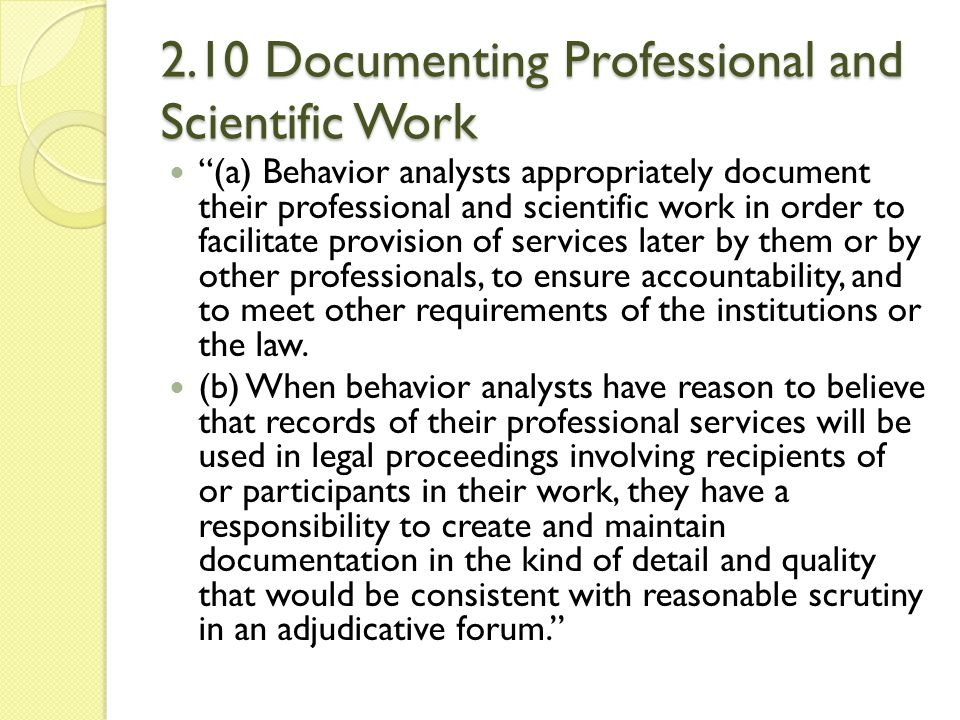 2.10 Documenting Professional and Scientific Work
