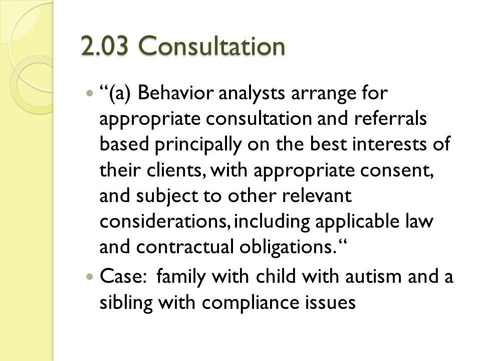 2.03 Consultation