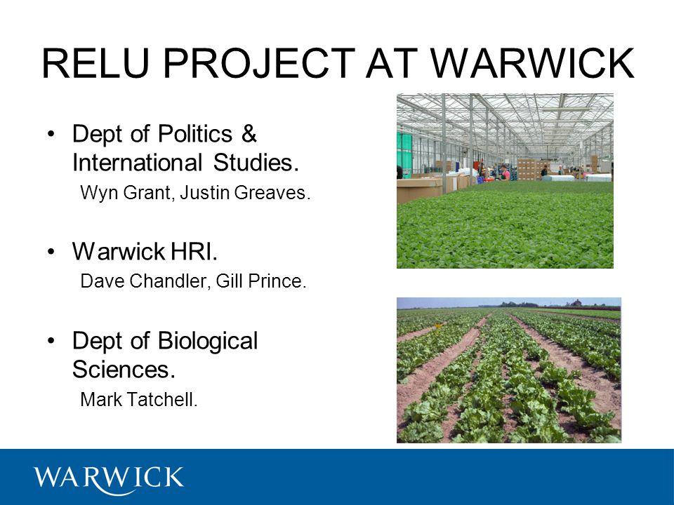 RELU PROJECT AT WARWICK