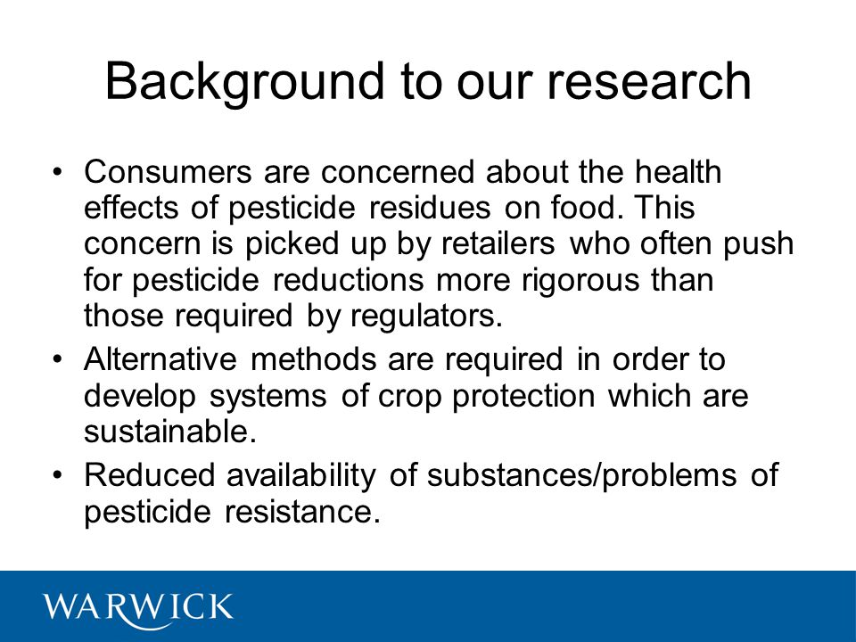 Background to our research