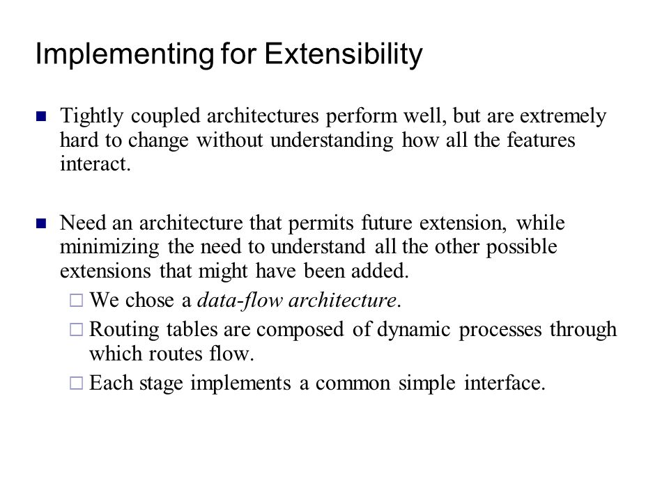 Implementing for Extensibility