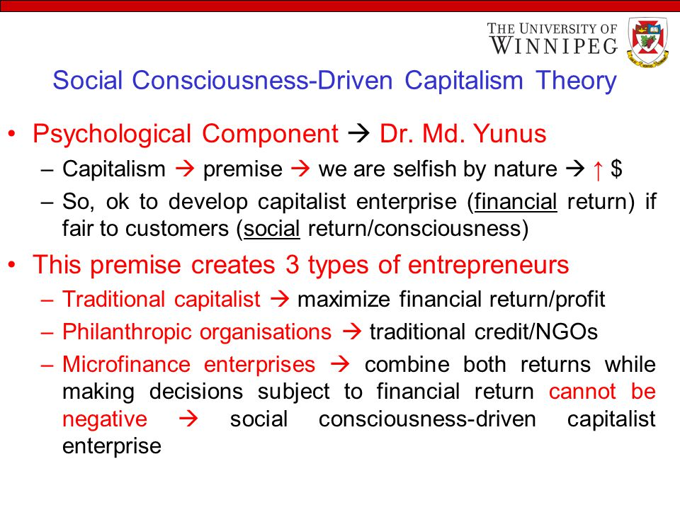 Social Consciousness-Driven Capitalism Theory