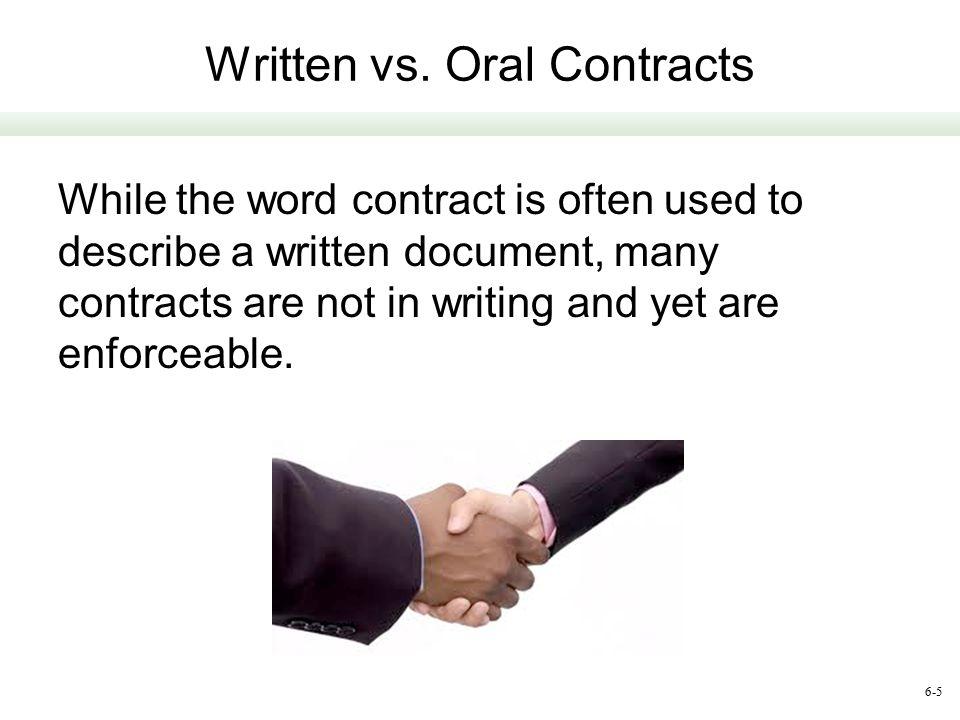 Written vs. Oral Contracts